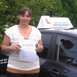 Andreea Simeon passed her driving test with Sarah Plows