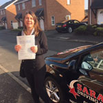Annette Otto passed her driving test with Sarah Plows