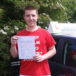 Arturs Eversons passed his driving test with Sarah Plows