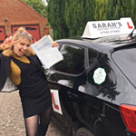 Emily Walker passed her driving test with Sarah Plows