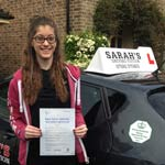 Gemma Amos passed her driving test with Sarah Plows
