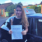 Georgia Bailey passed her driving test with Sarah Plows