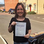 Polina Toner passed her driving test with Sarah Plows