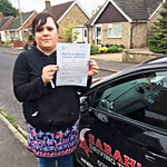 Samantha Barnes passed her driving test with Sarah Plows