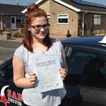 Tanya Kirman passed her driving test with Sarah Plows