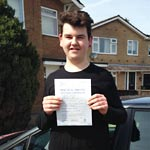 William Ella passed his driving test with Sarah Plows